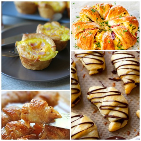 crescent roll recipes collage