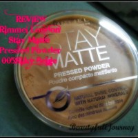 REVIEW, SWATCHES: Rimmel London Stay Matte Pressed Powder – 005 Silky Beige.