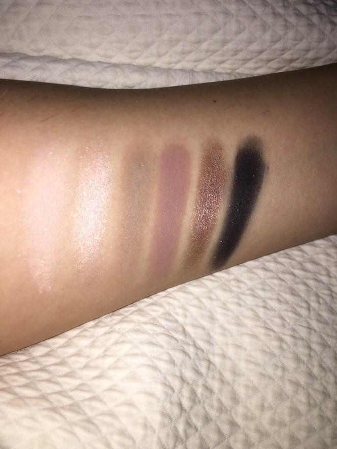 From left to right: Vapour, Phloof, Omega, Quarry, Satin Taupe & Stroke of midnight