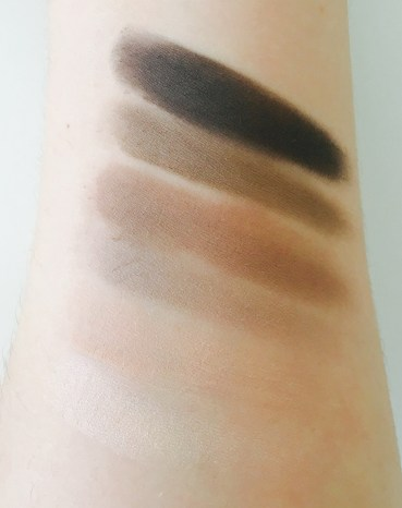 Swatches from bottom to top: Skimp, Stark, Frisk, Cover, Primal, Undone