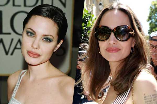 Все оттенки коричневого: как менялся цвет волос Анджелины ...