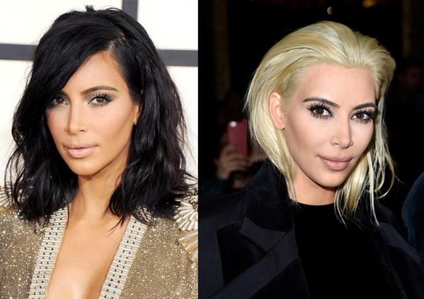 Из Черного В Блондинку До И После Фото