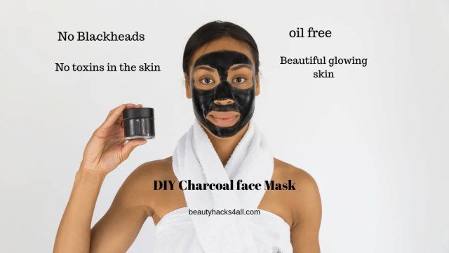 DIY charcoal face peel off mask for glowing skin