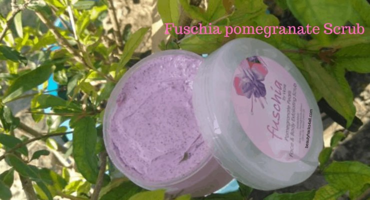 face and body scrub pink