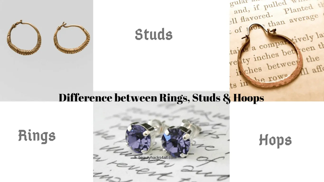 difference between rings, Studs and hoops
