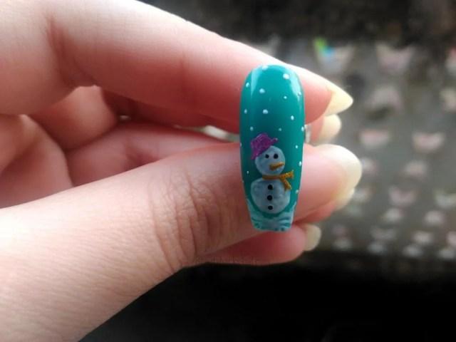 snowman nail designs