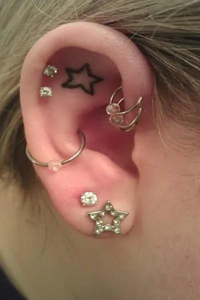 female ear piercing