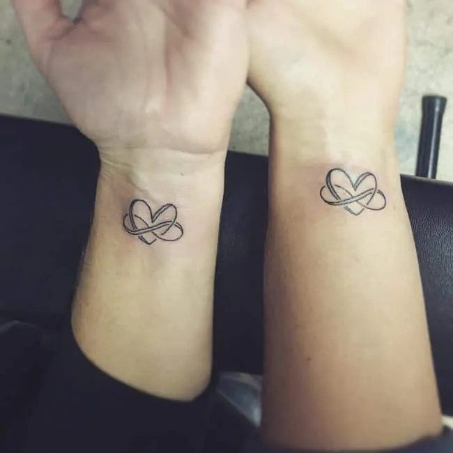 infinite heart tattoo