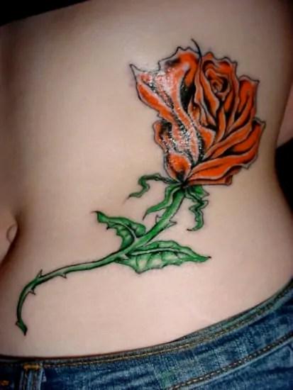 large rose tattoo design