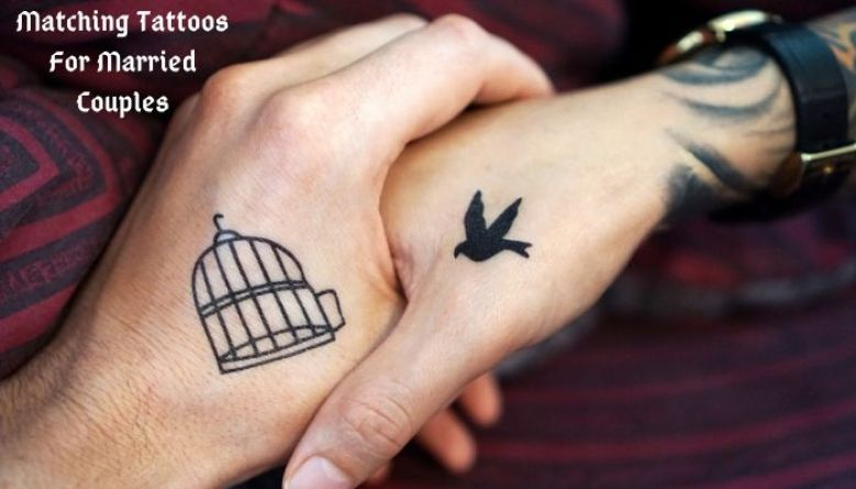 bird and cage couple tattoo