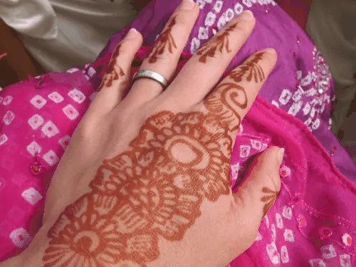 flower design mehndi
