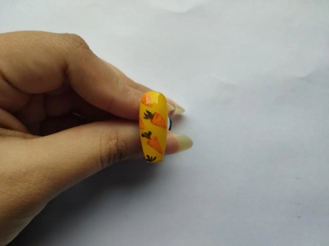 Easter Carrot Nail Designs