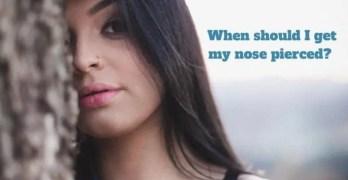 get a nose piercing
