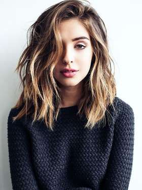 hairstyle tresses le carre long ondule