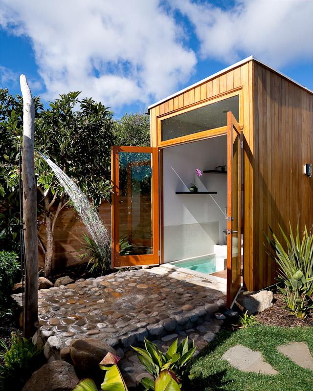 21 Wonderful Outdoor Shower and Bathroom Design Ideas ... on Backyard Bathroom Ideas  id=46790