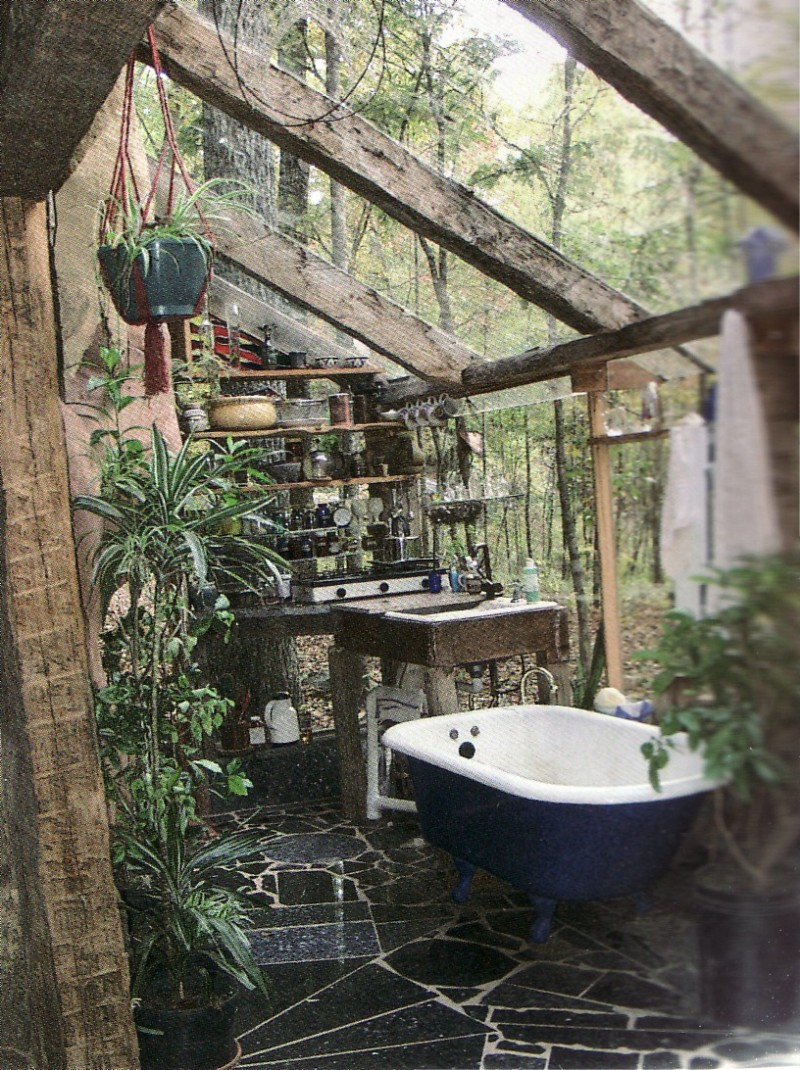 21 Wonderful Outdoor Shower and Bathroom Design Ideas ... on Backyard Bathroom Ideas  id=30438