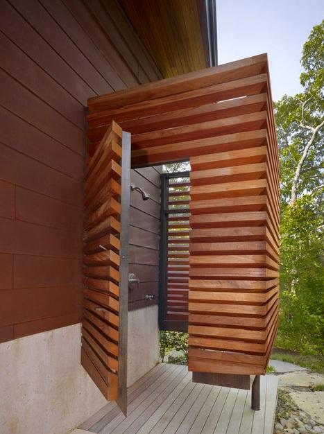 21 Wonderful Outdoor Shower and Bathroom Design Ideas ... on Backyard Bathroom Ideas  id=40447