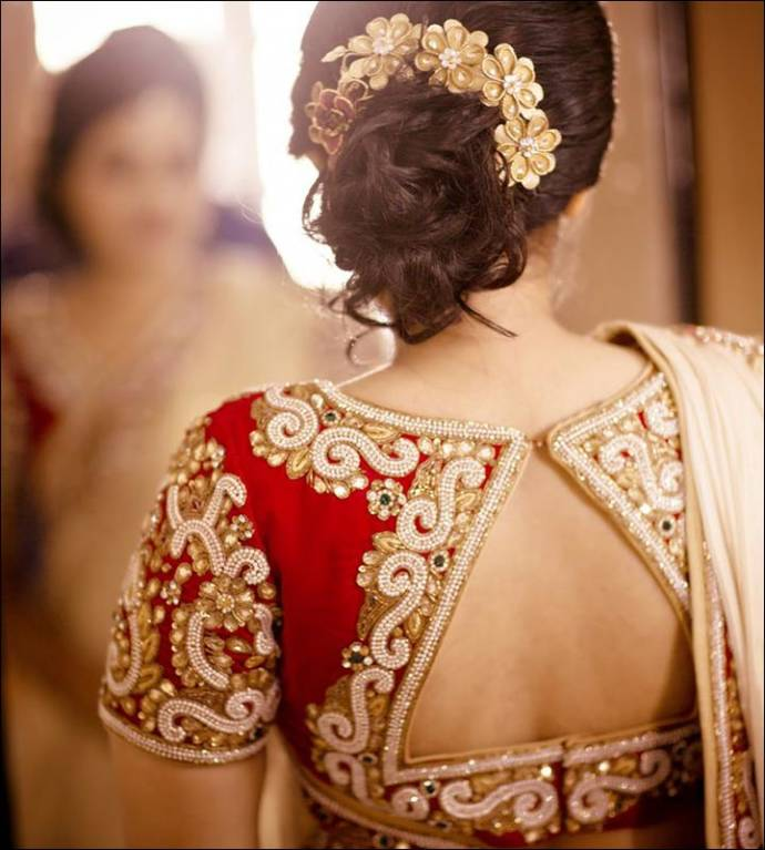 Maggam Work Blouse Designs For Wedding Saree Top Blouse