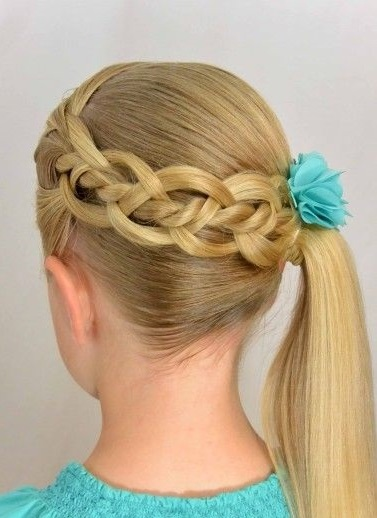 Beautiful Feather Ladder Loop Braid Hairstyles