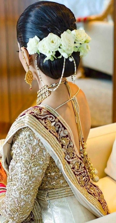 Simple Hairstyles For Silk Saree