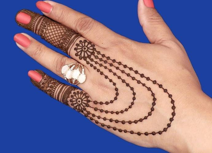 Mehndi is generally connected on the palms and on the posterior of the hand. Back Hand Jewellery Mehndi Designs Collection 2019