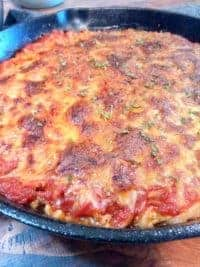 Easy, gluten free spaghetti pie
