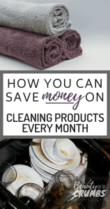 Save money on cleaning products. Save money on household items. Learn how to make your own household cleaning products and save money every month! We save over $600 a month on groceries and household items