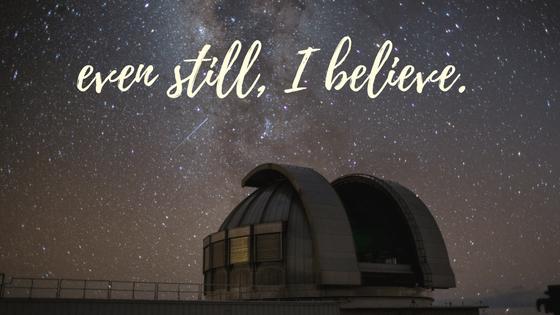 even still, I believe