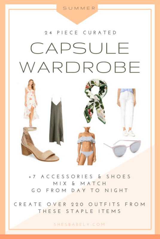 Shop The Summer Capsule Wardrobe - Build A Capsule Wardrobe - Curate Your Capsule Wardrobe 2017 - Capsule Wardrobe Minimalist Women - Work - Workbook - Free Printables- Free EBook - Minimalism Organization Declutter | www.beautyisgf123.com