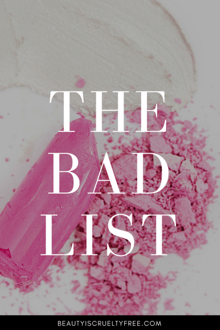 the bad list -cosmetic companies that test on animals - avoid these brands | beautyisgf123.com