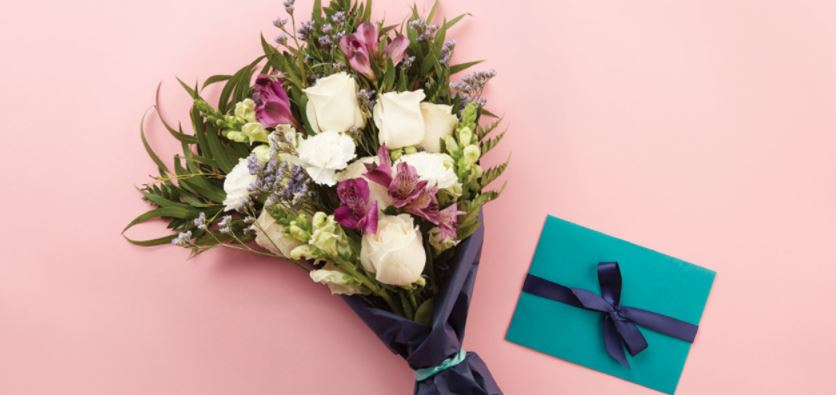 Bouqs Flower delivery Galentines day gifts ovaries before brovaries greeting card | BeautyIsCrueltyFree.com