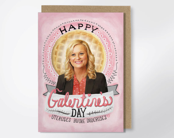 Galentines day gifts ovaries before brovaries greeting card | BeautyIsCrueltyFree.com