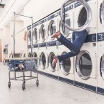 person-diving-into-washer