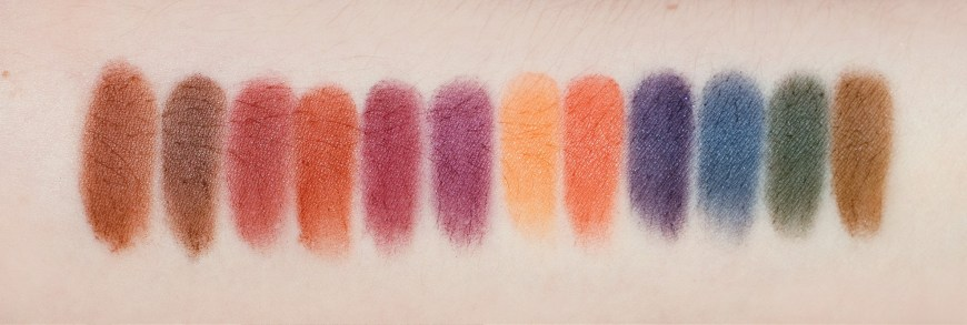 Viseart Dark Mattes Eyeshadow Palette swatches