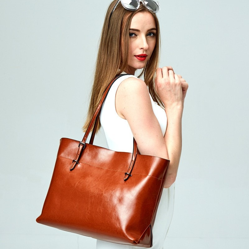 Leather tote suitable