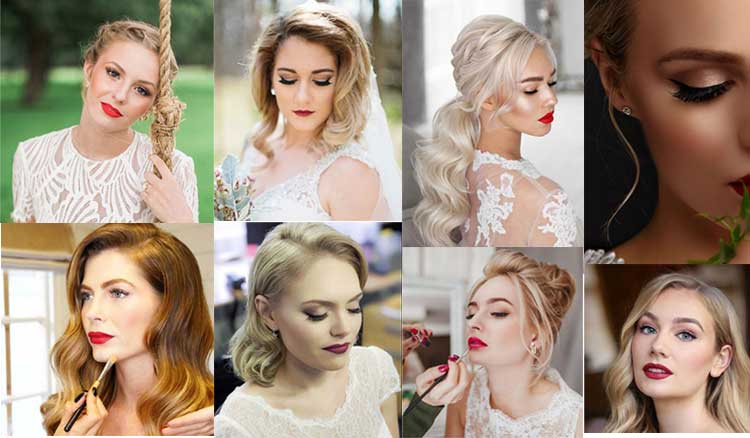What is the ideal bridal makeup for blondes