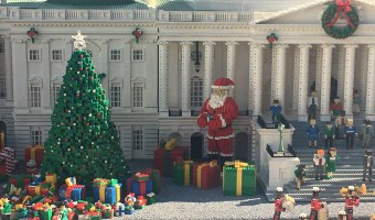 santa clause and tree made from legos at legoland califonria