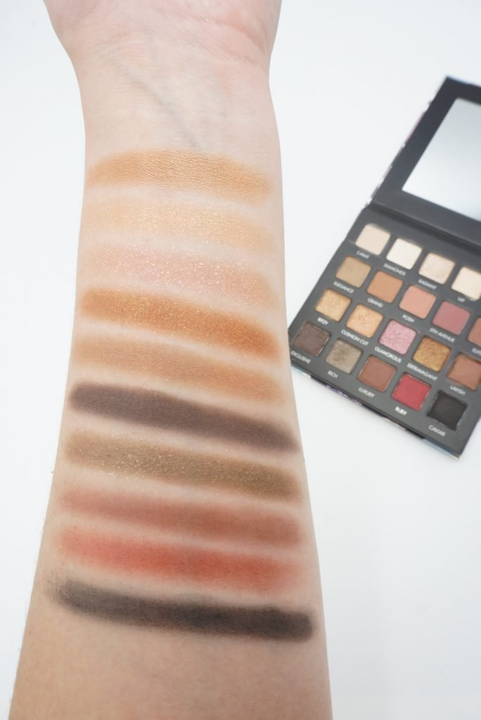 Lorac Cosmetics Lux Diamond Swatches