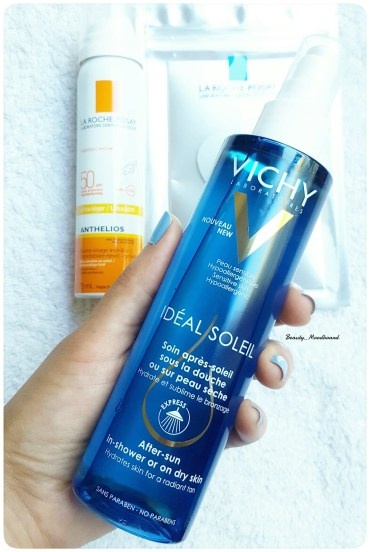 soin après soleil sous la douche Vichy Idéal Soleil
