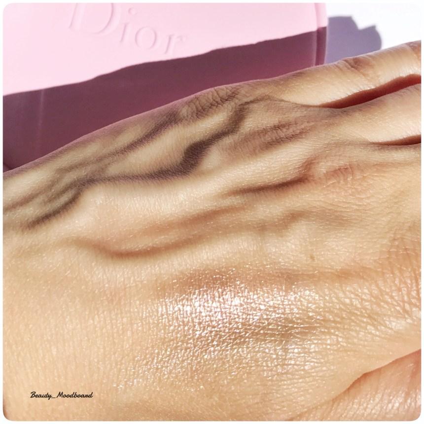 Dior Metalizer Swatch 528 fard crème