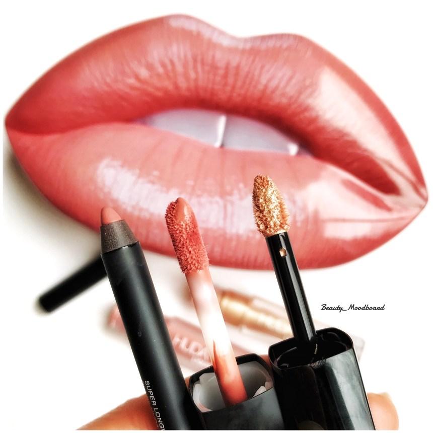 Détails des pinceaux Liquid Matte Bombshell et Lip Strobe Ritzy plus Lip Contour mine crayon