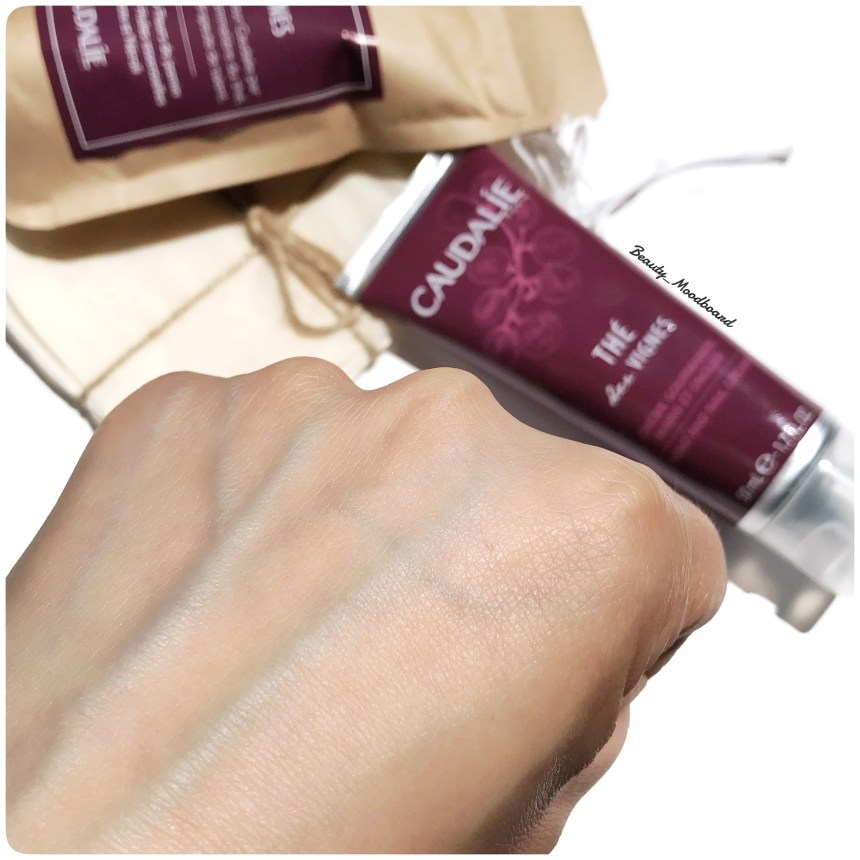 swatch mains douces avec la crème caudalie