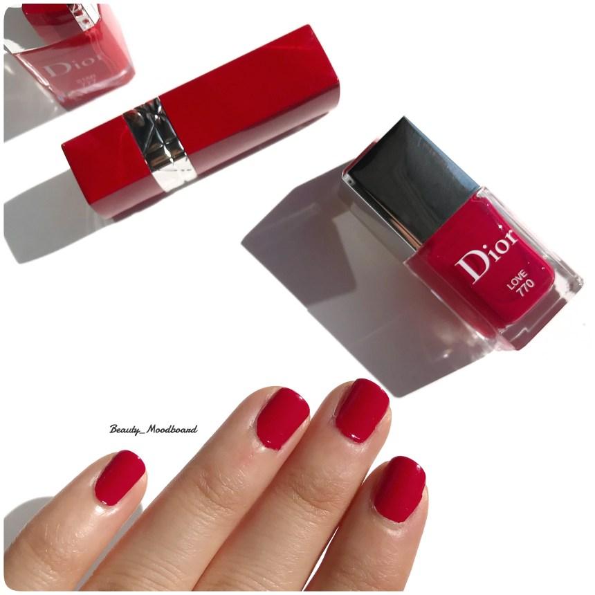 Vernis de couleur framboise Dior