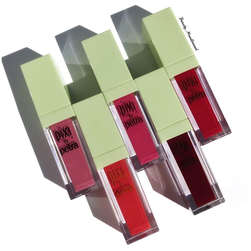 5 teintes de rouges à lèvres liquides colorées Peony Pink Prettiest Pink Orange Red Real Red Berry Boost