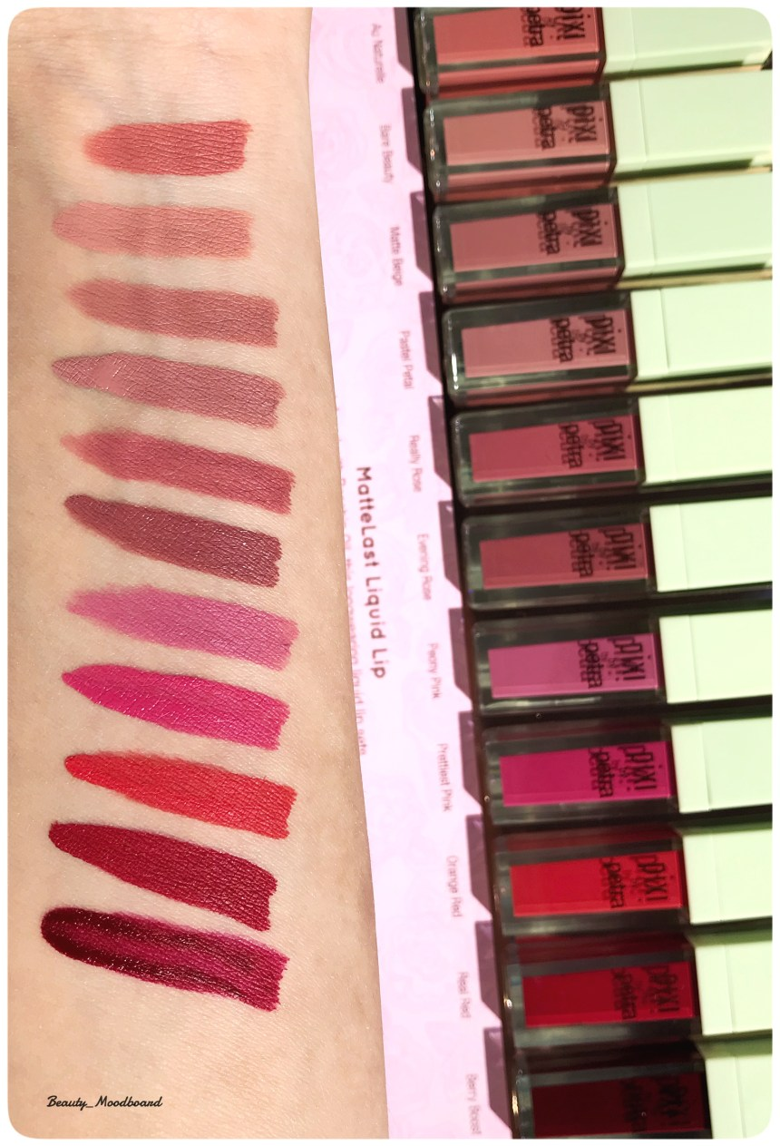 Swatches MatteLast Liquid Lip Pixi By Petra collection fall 2018
