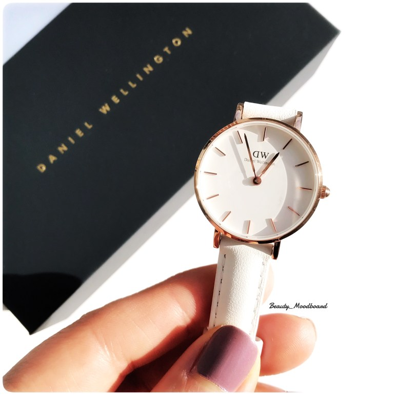 Daniel Wellington Montre Petite Bondi Or Rose bracelet blanc