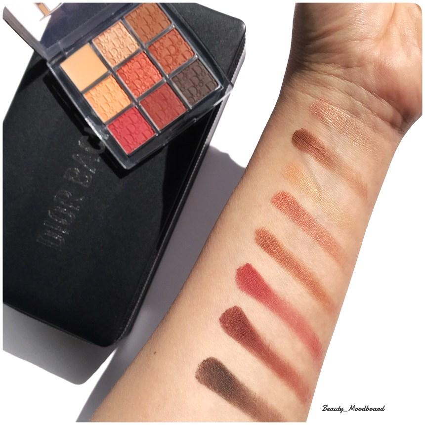 Swatches Eye Palette Amber Neutrals 003 Dior