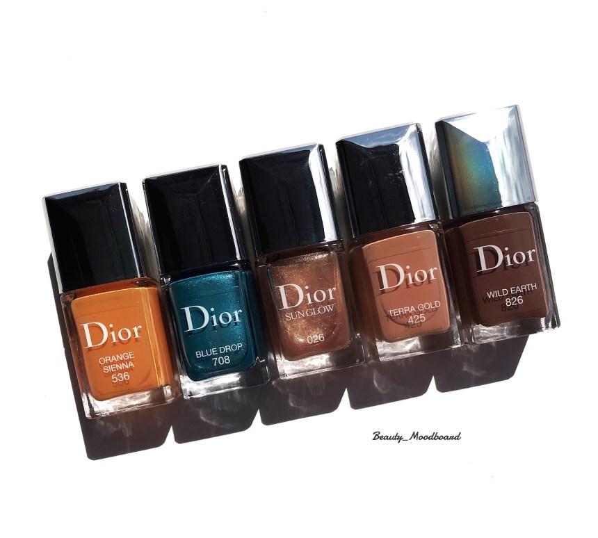 Vernis Dior Collection Complète des 5 couleurs été 2019