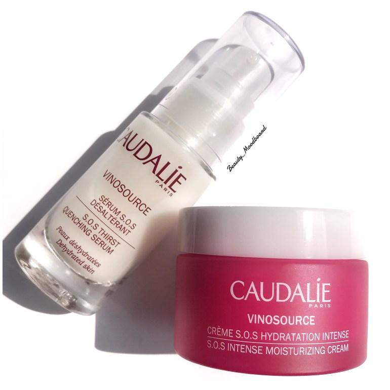 Duo de soins Caudalie Vinosource Crème S.O.S Hydratation Intense et Sérum S.O.S Désaltérant