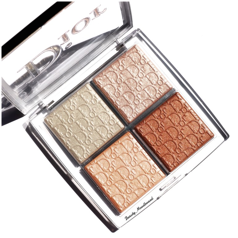 Palette 4 fards highlighter Dior Backstage Glitz pour illuminer le teint